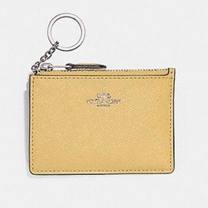 Coach Mini Skinny Id Credit Card Case Key Chain